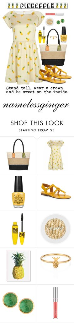 """wear a crown"" by namelessginger ❤ liked on Polyvore featuring OPI, Franco Sarto, Maybelline, White Label, Lee Renee and NAKAMOL"