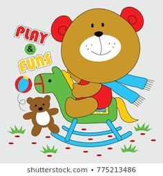 Play Horse, Baby Suit, Yoshi, Toys, T Shirt, Fictional Characters, Animal Drawings, Fimo, Activity Toys