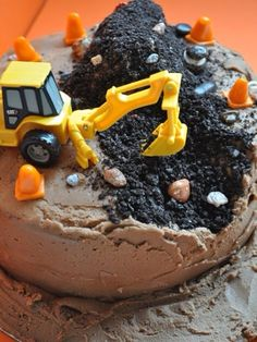 Coal mine cake. Strip mines