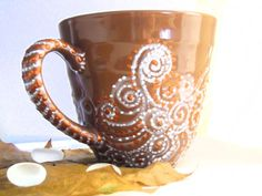 mug using light colors on top of dark. Very nice
