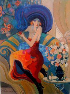 Women in Painting by Israeli Artist Isaac Maimon ~ Blog of an Art Admirer #Art