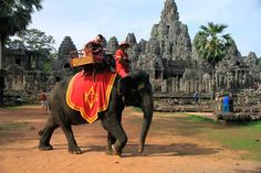 Angkor Elephant ride in Siem Reap is a great way to soak up the atmosphere under the shade of the huge trees and also offers a different view on the temples http://cambodiahotels.info/featured/angkor-elephant-riding.html