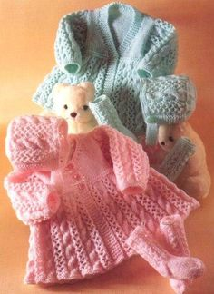 Prem Baby Reborn or Baby Doll Matinee Coat Bonnet by GeoKnits, £0.99: