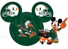 Printable DIY Mickey Mouse University of Miami by MyHeartHasEars, $5.00