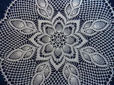 Items similar to Handmade Crochet Cotton Doily With Pineapple Shape Details cm) on Etsy Crochet Mandala, Crochet Doilies, Hand Crochet, Ecru Color, Warm Winter Hats, Crochet Borders, Cotton Thread, Beautiful Crochet, Knit Patterns