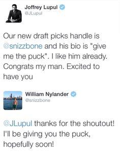 LOL Joffrey Lupul. Give him the puck! William Nylander. Toronto Maple  Leafs. NHL Hockey. Toronto Marlies. Sweden. Canada. Snizz. Snizzbone.