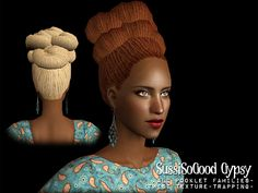 zerographic | Sussi Gypsy Twists Sims 2 Hair, Genetics, Twists, Dreads, Braided Hairstyles, Gypsy, Winter Hats, Beanie, Female Hair