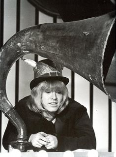 Brian Jones behind the gramophone