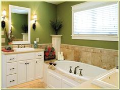 green bathroom paint colors