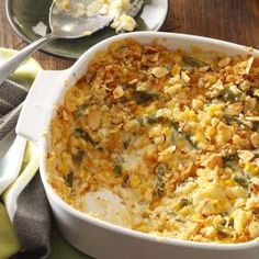 "Company Vegetable Casserole Recipe -A neighbor passed this recipe on to me. I make the vegetable casserole for family dinners, reunions and potlucks, and the response is almost always the same when people taste it: ""Can I have the recipe?"" —Leora Clark, Lincoln, Nebraska"