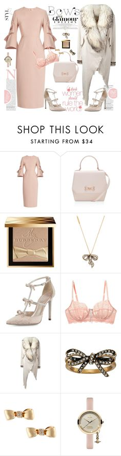 """The Glamour Bows"" by ellie366 ❤ liked on Polyvore featuring Roksanda, Ted Baker, Burberry, Marc Jacobs, René Caovilla, Heidi Klum Intimates, Bazar Deluxe, Mimi So, Vivienne Westwood and chic"