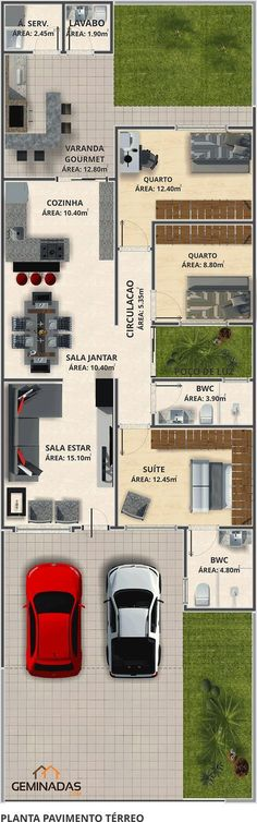 Seven Interior Design Tips For Your Home - My Romodel Dream House Plans, Small House Plans, House Floor Plans, Sims 4 Houses, House Layouts, Home Projects, Planer, Future House, Architecture Design