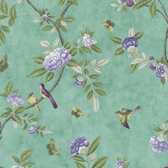 Chinoiserie Jade Green Wallpaper - Green Floral Wall Coverings by Graham  Brown