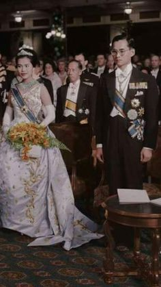 His Majesty King Bhumibol Adulyadej and Her Majesty Queen Sirikit