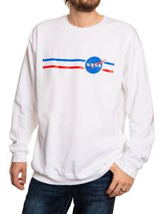 NASA Unisex Stripe Meatball Logo Crew Neck Sweater T Shirt Printer, Nasa, Cool T Shirts, Crew Neck, Unisex, Meatball, Printers, Sweatshirts, Theory