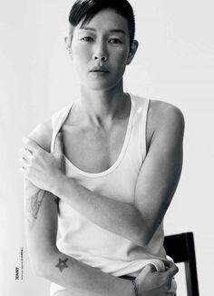 Women modeling as male models Modern Weekly China AW 2014 Athena Wilson, Casey Legler, Eve Salvail, Hannah Vandermolen, Jenny Shimizu (4)