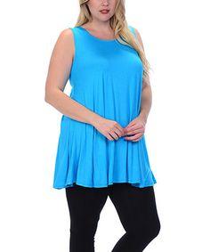Love this Blue Swing Tank - Plus on #zulily! #zulilyfinds