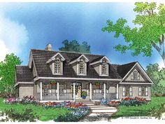 Eplans Farmhouse House Plan - Classic Cathedral Ceilings - 2195 Square Feet and 4 Bedrooms from Eplans - House Plan Code HWEPL06883
