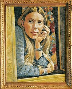 Joni Mitchell self portrait -she describes herself as a painter first ,and a musician second- what an amazing talent