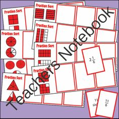 Equivalent Fraction Game - Fraction Sort from Teaching Trove on TeachersNotebook.com (9 pages)  - Players rename fractions and match them with the pictorial representation.