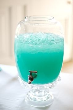 Tiffany Punch.  Recipe: Blue Hawaiin Punch and Lemonade. Nice summer drink! - Click image to find more Weddings Pinterest pins