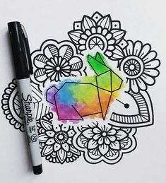 Cool Art Drawings, Art Drawings Sketches, Easy Drawings, Dibujos Zentangle Art, Polygon Art, Sharpie Art, T Art, Mandala Drawing, Geometric Art