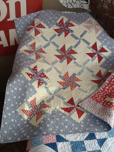 PinWheel Quilt, so pretty and the one peeking from underneath as well!