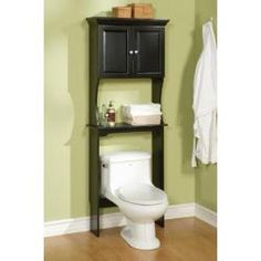 @Overstock - Get plenty of storage space in your small bathroom with this handy bathroom space saver, which fits above a sink or toilet. The cabinet has an adjustable shelf to suit the height of your bottles, and its black finish will look good in any bathroom.http://www.overstock.com/Home-Garden/Dexter-Black-Bathroom-Space-Saver/6153759/product.html?CID=214117 $160.99