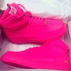 Bubblegum pink Nike Air Force 1s