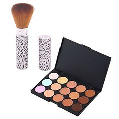 Makeup Concealer  TOOGOOR15 Color Camouflage Concealer Cosmetic MakeUp Cream Palette With Brush >>> See this great product.