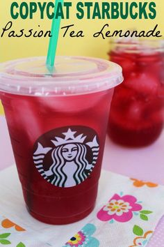 Starbucks Passion Tea Lemonade Enjoy this Copycat Starbucks Passion Tea Lemonade recipe anytime this summer while saving money and time!Enjoy this Copycat Starbucks Passion Tea Lemonade recipe anytime this summer while saving money and time! Lemonade Tea Recipe, Passion Tea Lemonade, Sparkling Lemonade, Pineapple Lemonade, Strawberry Lemonade, Homemade Lemonade, Lemonade Beyonce, Tazo Passion Tea, Drink Recipes