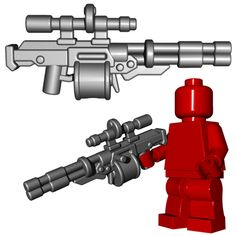 A lot of snipers like to focus on accuracy, firing one shot to get the job done. But why worry about silly things like accuracy when you have a full drum magazine filled with ammo? This custom LEGO® g