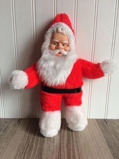 "VINTAGE Superior Toy Novelty Inc HTF Santa Plush Rubber Face 11"" Claus  Christmas 0c6da6d428e5"