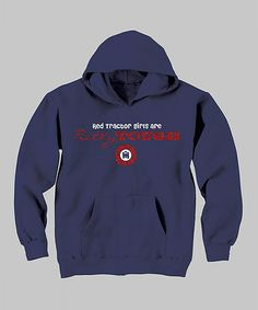 Take a look at this Navy 'Pretty Tough' Hoodie - Toddler & Kids by International Harvester on #zulily today!