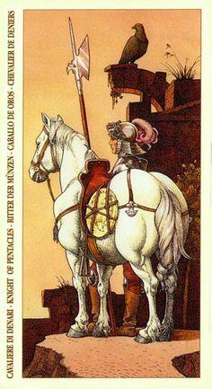 Knight of Pentacles - Albrecht Dürer Tarot (2002) by Giacinto Gaudenzi