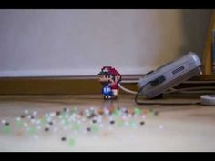 Super Mario 3: An Urban Stop Motion Film ~ If you're a Super Mario Fan, you'll probably love this stop motion piece, in which Super Mario (made out of beads) takes an urban adventure through supermarkets, down busy streets and racing his cart through a bedroom, with the entire film made out of beads.