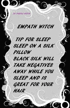 Empathy witch. Black silk pillow case