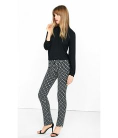 Multi. Our Slim Leg Columnist Is Cut A Bit Shorter, Hitting Just Below The Ankle For A Clean, Break-free Line. Done Up In A Textured Diagonal Check With A Powerful Graphic Edge, This Pair's Perfect For Hitting A Gallery Opening After Office Hours. Womens Columnist Pants. 10