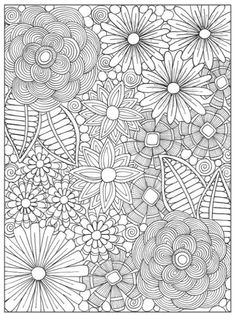 A sample coloring page from the adult coloring book Inkspirations: Color Your Way Content.