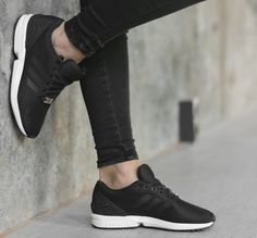 premium selection f1f6d 1ca70 Adidas ZX Flux black sneakers Adidas Zx Flux Black, Everyday Look, Black  Sneakers,