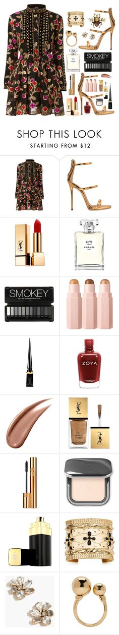 """Untitled #1062"" by claire394 ❤ liked on Polyvore featuring Dodo Bar Or, Giuseppe Zanotti, Yves Saint Laurent, Chanel, Christian Louboutin, Aurélie Bidermann, J.Crew, Chloé and Gucci"