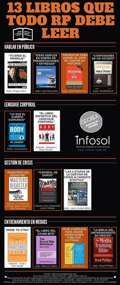 13 libros que todo relaciones públicas debe leer #infografia