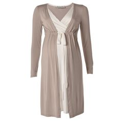 LABEL LAMèRE   Mock Double Layer Long Sleeve Dress in White - Moms and Maternity - kinderelo.co.za