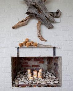 Fireplace seashells #fireplace