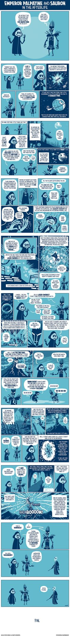 Palpatine and Sauron in the Afterlife - 9GAG