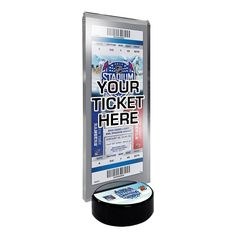 2014 NHL Stadium Series Desktop Ticket Display Stand - New Jersey Devils vs. New York Rangers, Multicolor