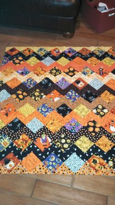 I Spy Halloween (Quilts and More pattern) quilt top