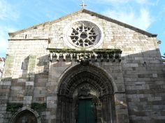 Iglesia de Santiago  Old city La Coruna, Spain