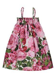 Dolce & Gabbana Kids Jurk met bloemendessin • de Bijenkorf