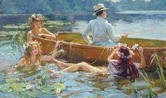 the fishing - Vladimir Gusev [1100 x 656] | Visit http://www.omnipopmag.com/main For More!!! #Omnipop #Omnipopmag